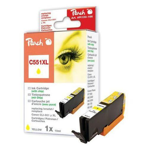 Tusz zamiennik xl yellow z chipem, kompatybilny z cli-551, cli-551y xl marki Peach