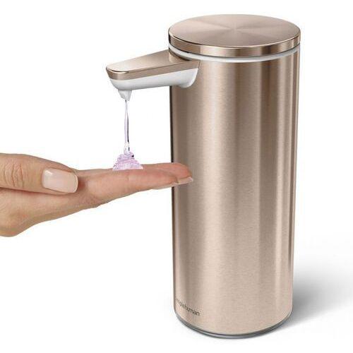 Simplehuman - Dozownik bezdotykowy akumulatorowy 266ml - różowe złoto - perłowe złoto (0838810020440)