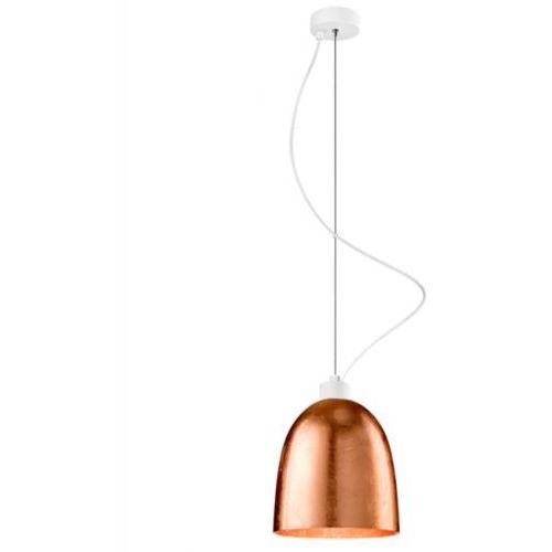 LAMPA wisząca AWA 1/S/COPPER/OPAL Sotto Luce szklana OPRAWA zwis miedziany, AWA 1/S/COPPER/OPAL