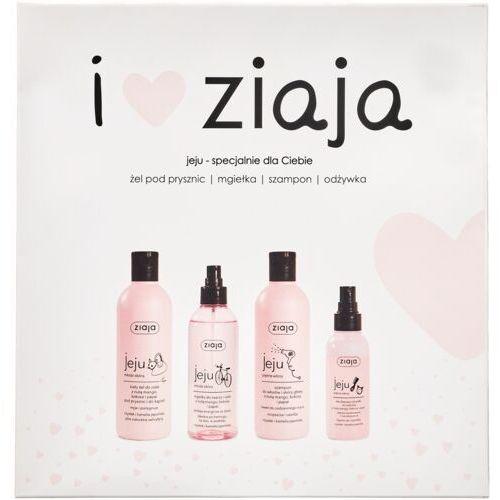 Ziaja i ♥ ziaja jeju zestaw szampon jeju 300 ml + żel pod prysznic jeju 300 ml + mgiełka do twarzy jeju 200 ml + odżywka w spreju jeju 125 ml w (5901887049951)