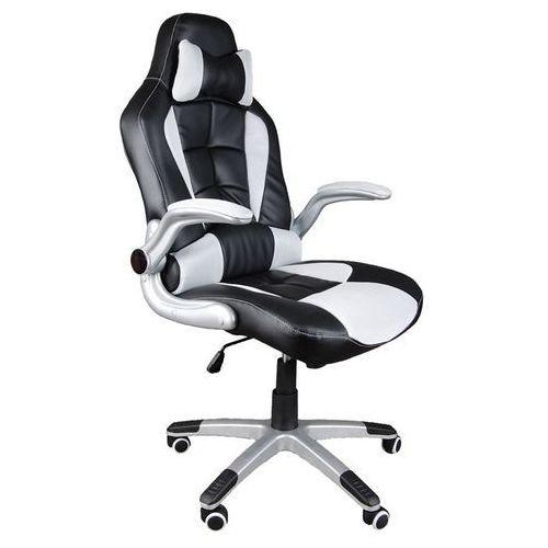 Giosedio Fotel biurowy czarno-biały, model bst042