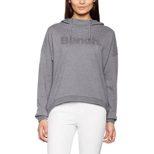 Bluza z kapturem Bench CURRENT dla kobiet, kolor: szary, rozmiar: Medium, z