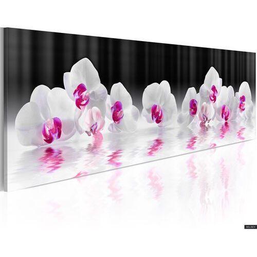 obraz - orquidiana (odbicia kwiatów w wodzie) 135x45 cm marki Selsey
