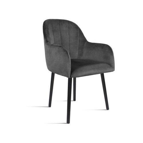B&d Krzesło besso ciemny szary/ noga czarna/ tr15