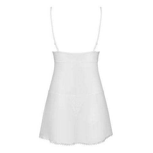 Prześwitująca biała koszulka - Obsessive Sensita Babydoll & Thong White S/M, 7064001 (7837301)