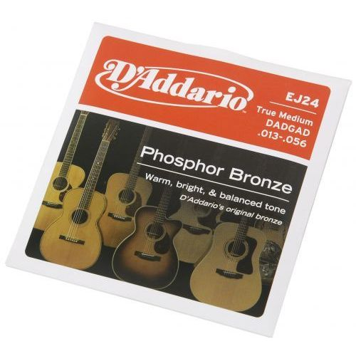 ej24 struny do gitary akustycznej phosphor bronze, true medium, 13-56 marki D′addario