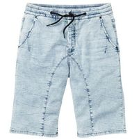 """Bermudy z dzianiny dresowej w optyce dżinsu Regular Fit bonprix niebieski """"used, bawełna"""