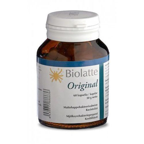 Kapsułki Biolatte Original 60 kaps. Żywe Kultury Ludzkich Bakterii Kwasu Mlekowego Probiotyk