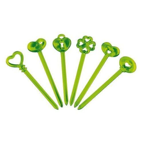 Guzzini - patyczki do przystawek 6 szt - love - zielone