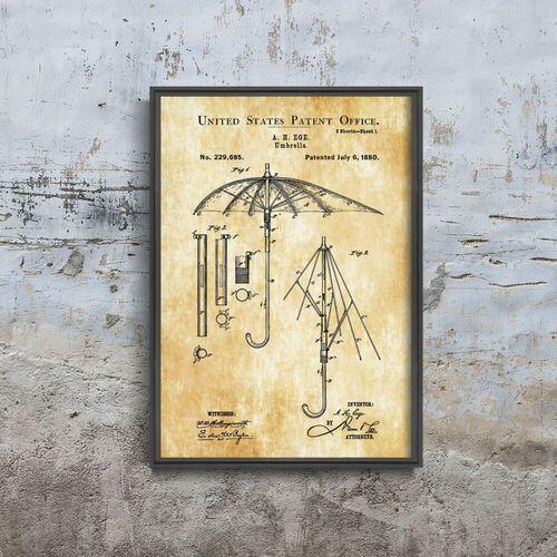 Plakat vintage do salonu plakat vintage do salonu parasol ege patent usa marki Vintageposteria.pl