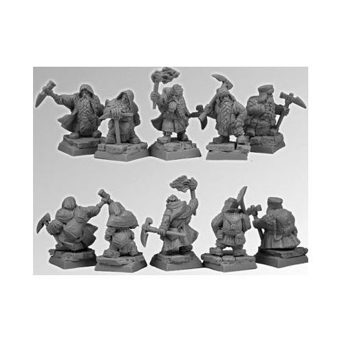 Scibor 28FM0103 - Dwarves Miners set2 28mm
