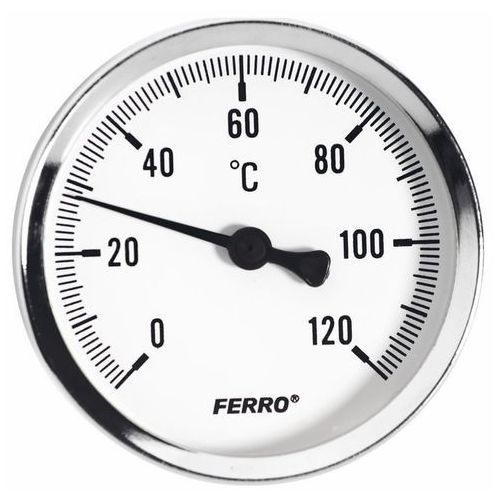 Ferro Termometr bimetaliczny 0-120 63 mm 1/2 axial