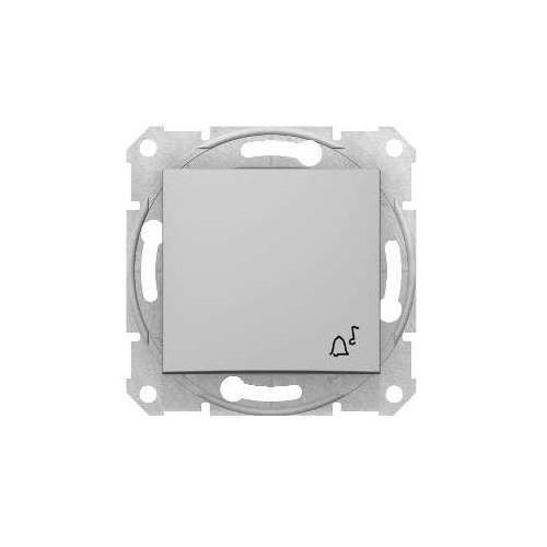 """Sedna przycisk """"dzwonek"""" Schneider podtynkowy pojedynczy bez ramki aluminium SDN0800160 (8690495032963)"""