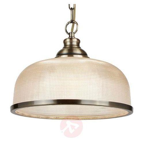 Searchlight Lampa wisząca ze szkła holofanowego bistro ii (5053423095103)