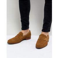 penny loafers in tan suede - tan marki Dune