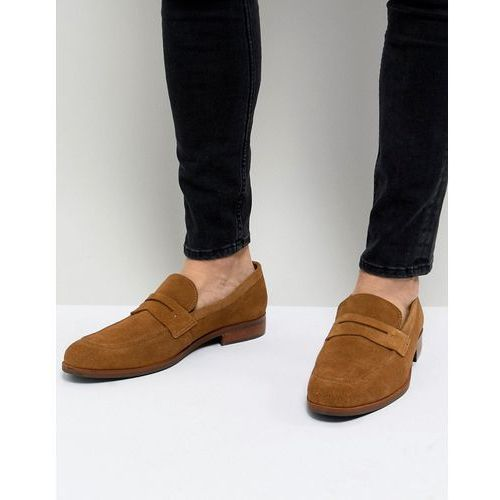 Dune Penny Loafers In Tan Suede - Tan