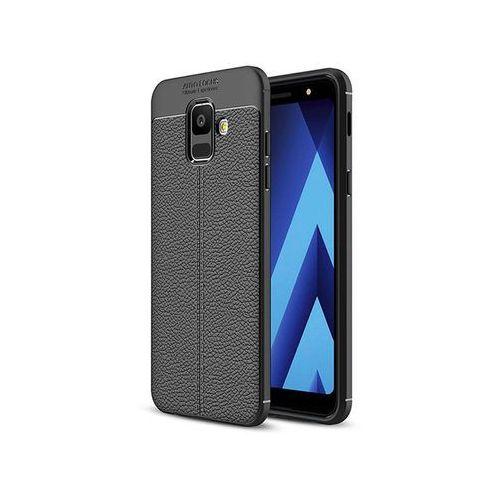 Etui Alogy leather - Galaxy A6 2018 czarne +3mk Szkło Flexible