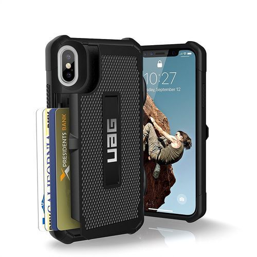 URBAN ARMOR GEAR UAG TROOPER ETUI OCHRONNE Z MIEJSCEM NA KARTY IPHONE X (BLACK), kolor czarny