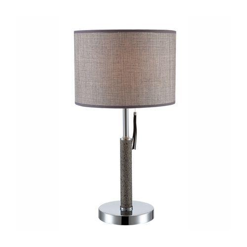 Stojąca lampa stołowa umbrella 24688 abażurowa lampa biurkowa okrągła chrom beżowa marki Globo
