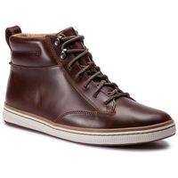 Trzewiki CLARKS - Norsen Mid 261278277 Dark Tan Leather, kolor brązowy