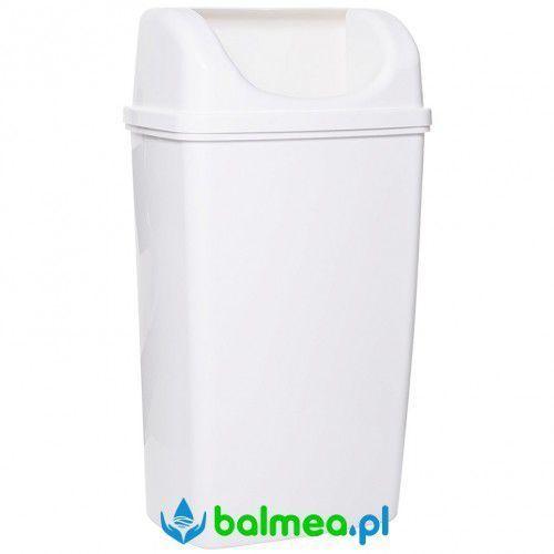Kosz na śmieci 50 litrów plastik biały marki Faneco