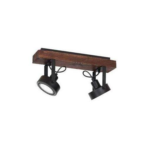 Luminex viva wood 1228 plafon lampa sufitowa listwa 2xar11115w gu10 czarny drewno