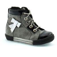 Buty zimowe dla dzieci 04794 - czarny   grafitowy marki Kornecki