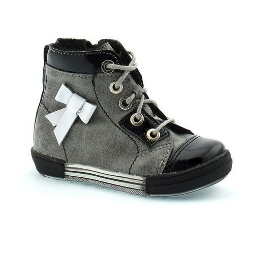 Buty zimowe dla dzieci 04794 - czarny ||grafitowy marki Kornecki