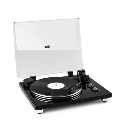 pure precision gramofon, napęd paskowy, 33 1/3 & 45 obr./min, kolor czarny marki Auna