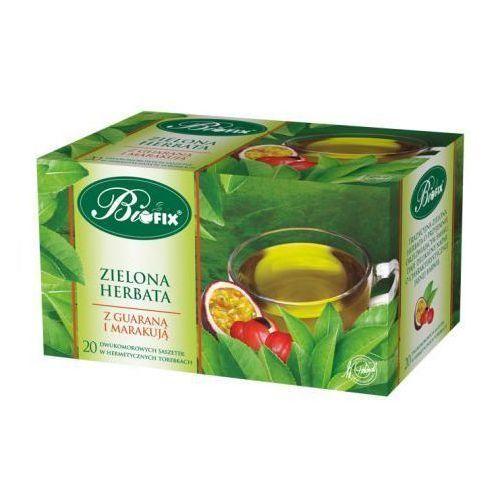 Herbata zielona ekspresowa z guaraną i marakują 40 g , marki Bifix