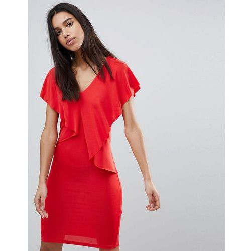 lou lou ruffle front dress - red marki Y.a.s
