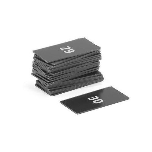 Tabliczki z numerami do szaf CREATE, numery 1-30
