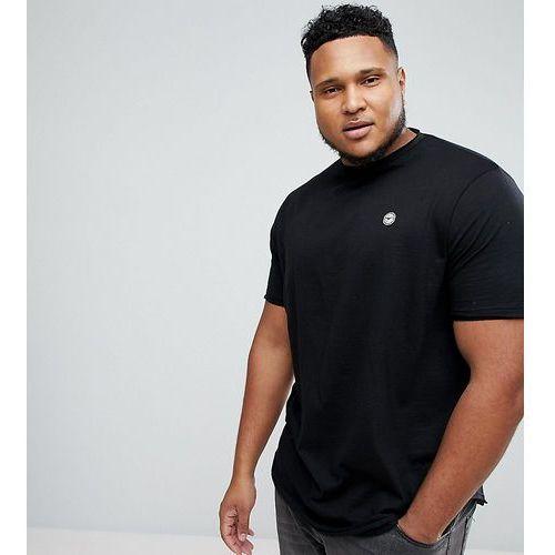 Le Breve Plus Raw Edge Longline T-Shirt - Black, kolor czarny