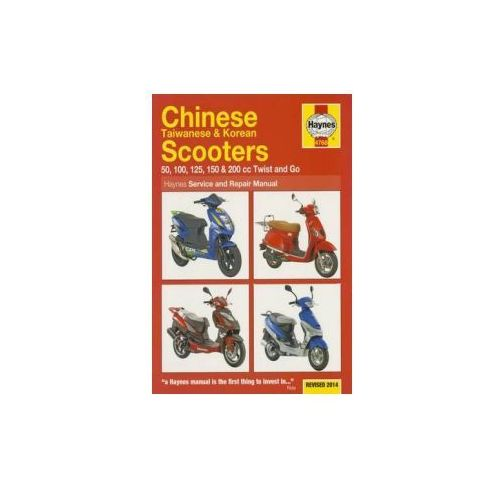 Chinese, Taiwanese & Korean Scooters Service and Repair Manu