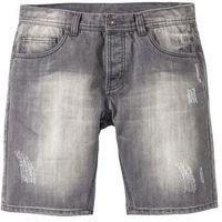 Bermudy dżinsowe loose fit szary denim, Bonprix
