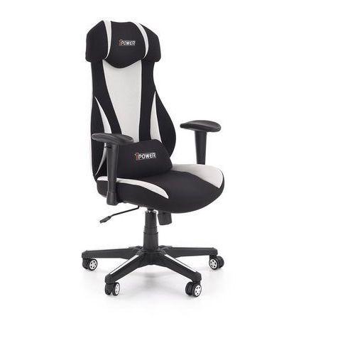 Halmar Fotel dla gracza gamingowy abart biały/czarny