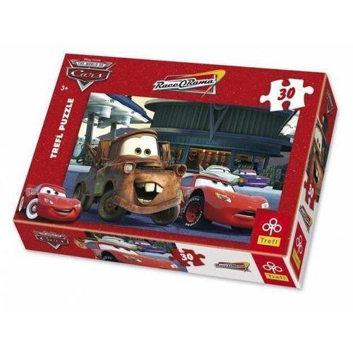 Puzzle 30 auta na stacji benzynowej marki Trefl