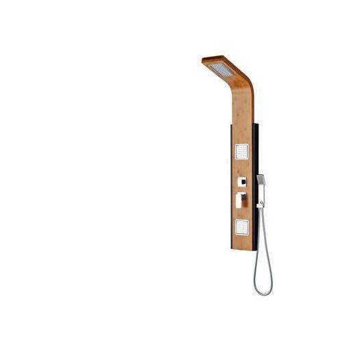 Kolumna prysznicowa dalima z hydromasażem, deszczownicą tropikalną i bambusowym panelem marki Shower design