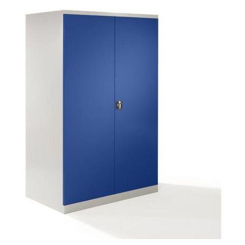 Szafa z drzwiami skrzydłowymi XXL, szer. 1200 mm, drzwi niebieskie gencjanowe. Z