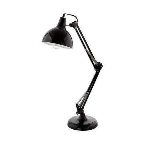 Stojąca LAMPA biurkowa BORGILLIO 94697 Eglo regulowana LAMPKA stołowa czarna - sprawdź w wybranym sklepie