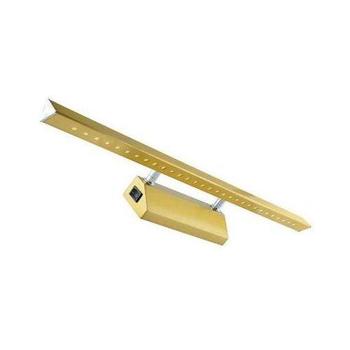 Ideus Kinkiet lampa ścienna riton 03075 oprawa metalowa led 6w galeryjka nad lustro antyczny mosiądz (5901477330759)