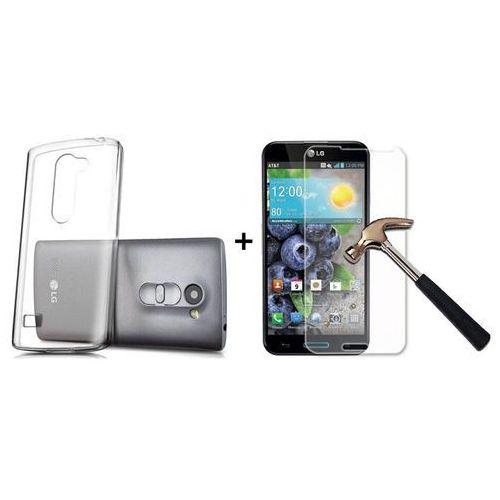 Zestaw   Obudowa Ultra Slim Przezroczysta + Szkło hartowane Perfect Glass   LG Leon