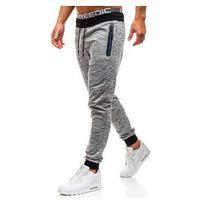 Spodnie męskie dresowe joggery szare denley kk532, J.style