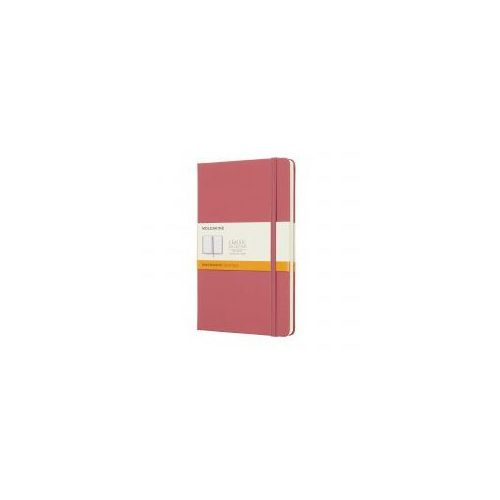Notatnik classic l linie, twarda oprawa, różowy marki Moleskine