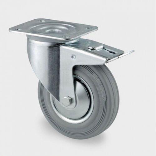 Tente Koła przemysłowe z maksymalnym obciążeniem 70-205 kg, szara guma (4031582305036)