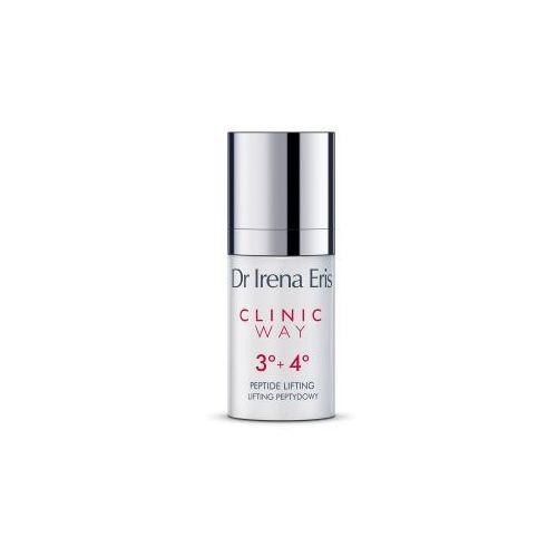 Dr Irena Eris CLINIC WAY 3+4 LIFTING PEPTYDOWY Dermokrem przeciwzmarszczkowy pod oczy na dzień i na noc 15 ml