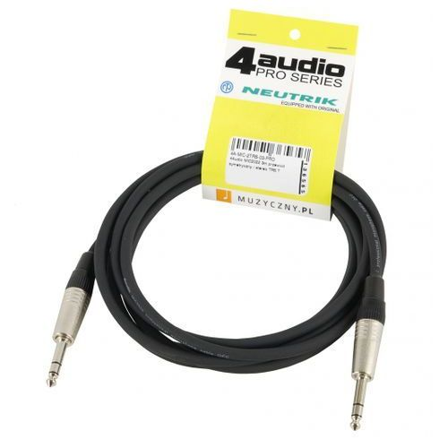 4audio mic2022 3m przewód symetryczny / stereo trs trs neutrik
