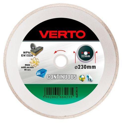 VERTO 61H2P9 Tarcza diamentowa 230 x 22.2 mm, pełna (5902062664235)