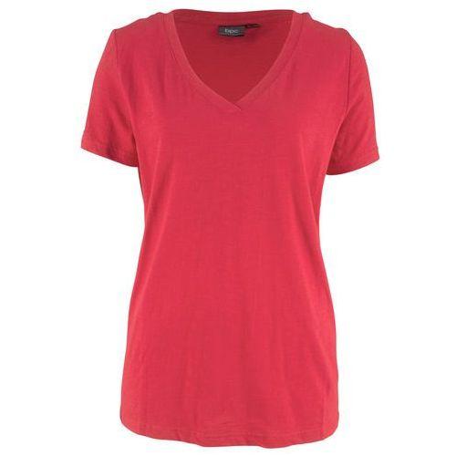 Shirt 2 w 1 z krótkim rękawem bonprix czarno-jeżynowy, bawełna