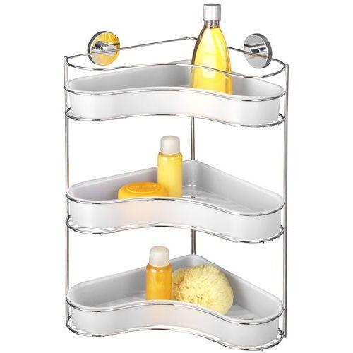 Narożna półka łazienkowa milazzo, vacuum-loc, 3 poziomy - stal chromowana, marki Wenko
